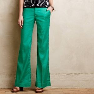 Anthropologie Level 99 Wide Leg Linen Trousers 26